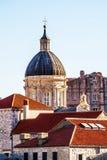 老杜布罗夫尼克市屋顶 免版税库存图片