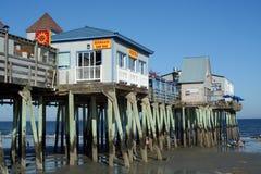 老果树园海滩,缅因 免版税库存照片