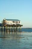 老果树园海滩,缅因 库存照片