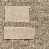 老标签纺织品 库存图片