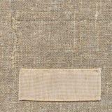 老标签纺织品 免版税库存照片