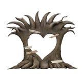 老树心脏 图库摄影