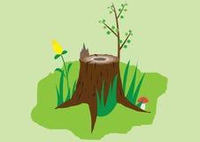 老树桩 向量例证
