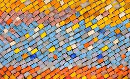 老样式生成一个惊人的图象 抽象几何马赛克葡萄酒种族无缝的图象装饰物 免版税库存图片