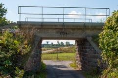 老桥梁在丹麦 库存照片