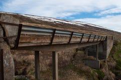 老桥梁在北部冰岛 库存照片