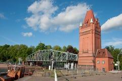 老桥梁在吕贝克德国 免版税图库摄影