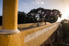 老桥梁在圣斯皮里图斯市,古巴 库存照片
