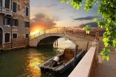 老桥梁在威尼斯 图库摄影