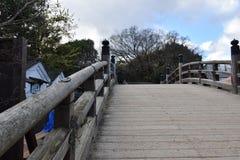 老桥梁在日本 库存照片