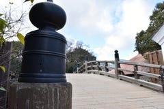 老桥梁在日本 免版税库存照片
