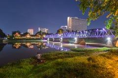 老桥梁在清迈,泰国 库存照片