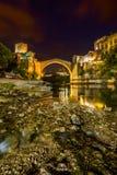 老桥梁在莫斯塔尔-波黑 免版税库存图片