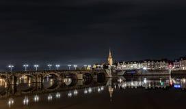老桥梁在马斯特里赫特 免版税图库摄影