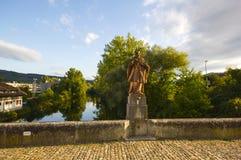 老桥梁在Dornach,索洛图恩 库存照片
