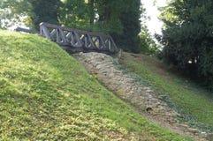 老桥梁在Varazdin 免版税库存照片