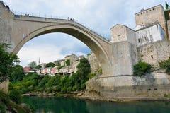 老桥梁莫斯塔尔 库存照片