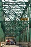 老桥梁金属 免版税库存照片