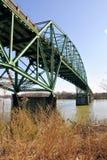 老桥梁铁 库存照片