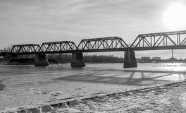 老桥梁 图库摄影