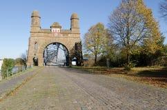 老桥梁harburg 免版税库存照片