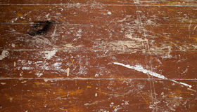 老棕色地板 免版税库存图片
