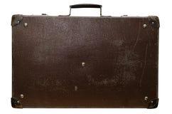 老棕色手提箱 免版税图库摄影