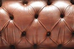 老棕色皮革纹理 免版税库存照片