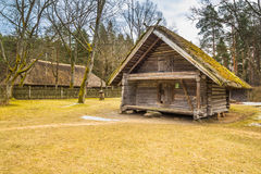 老棚子在拉脱维亚 免版税库存照片