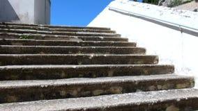 老楼梯台阶视图 股票视频