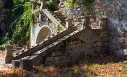 老楼梯在塞瓦斯托波尔 克里米亚 库存图片
