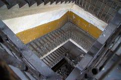 老楼梯 免版税库存照片