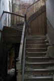 老楼梯 库存图片