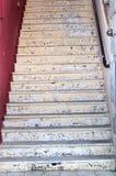 老楼梯 免版税图库摄影