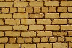 老概略的橙色颜色砖墙样式 库存照片