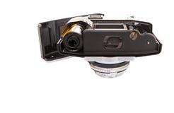 老模式照相机和胶卷x 免版税库存图片