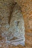 老橄榄色的磨房在可西嘉岛 库存图片