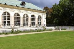 老橘园在Lazienki在华沙在波兰 免版税库存图片