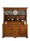老橡木厨房梳妆台古董英语 免版税库存照片