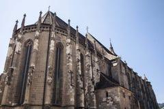 老欧洲哥特式教会。 免版税图库摄影