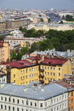 老欧洲城市看法从高度的鸟的飞行 圣彼得堡,俄罗斯,北欧 免版税图库摄影