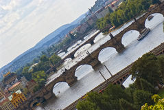 老欧洲桥梁  免版税图库摄影