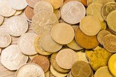 老欧洲硬币 免版税库存照片