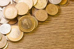 老欧洲硬币 库存图片
