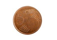 老欧洲硬币 图库摄影
