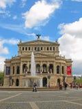老歌剧家的法兰克福-德国 免版税图库摄影