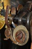 老歌手缝纫机特写镜头细节  库存图片
