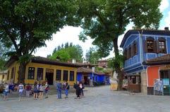 老正方形在Koprivshtitsa保加利亚 免版税库存照片