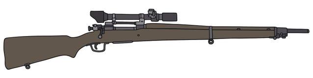 老步枪狙击手 库存照片