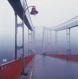 老步行桥在基辅 库存图片